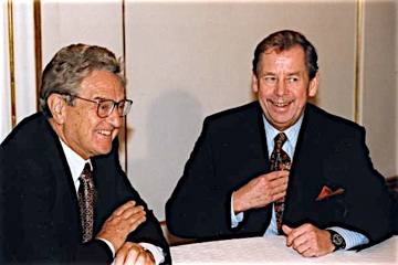Image result for vaclav havel and soros